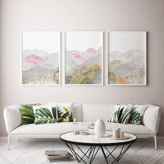 Save 10 Framed Picture Wall Art Set For Living Room Pink Etsy