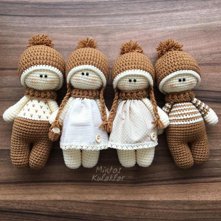 1,796 vind-ik-leuks, 65 reacties - BUKET (@mintos_kulaklar) op Instagram: 'Bu ekip bence biziz ha @sevgilihobi ...! ? NOT:bebekler 25 cm dir #amigurumi #amigurumipattern…'