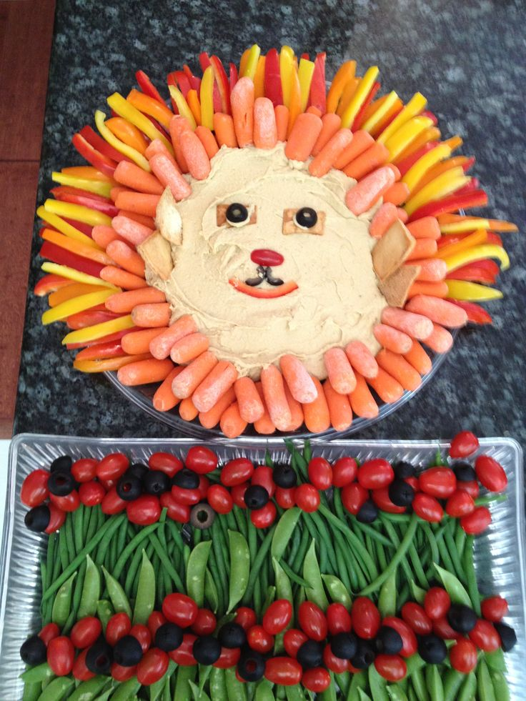 Lion King Veggie Tray Kidlets Pinterest Trays