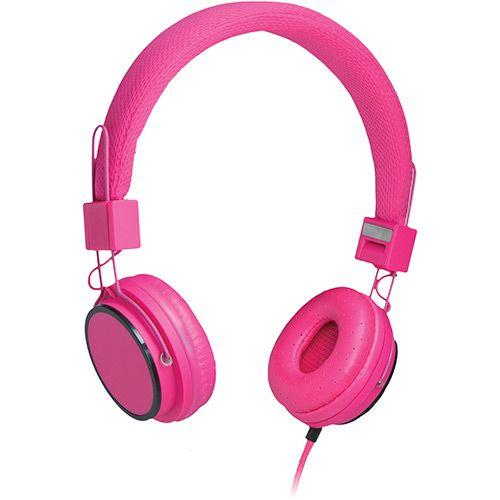 Fone de Ouvido Multilaser Fun PH88 Supra Auricular Rosa com Microfone para Celular - R$ 88,36
