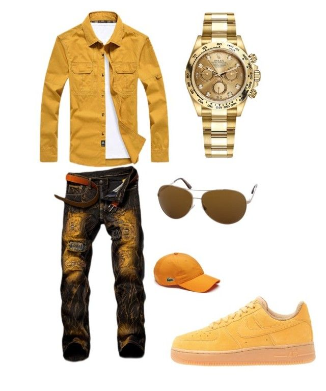Finna go to atlanta by tikitress on Polyvore featuring Rolex, Tom Ford, Lacoste, NIKE, men's fashion and menswear