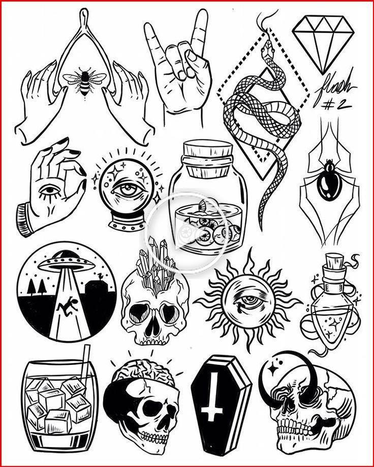 Flash Sheet Flash Tattoo Designs Tattoo Flash Sheet Tattoo Flash Art