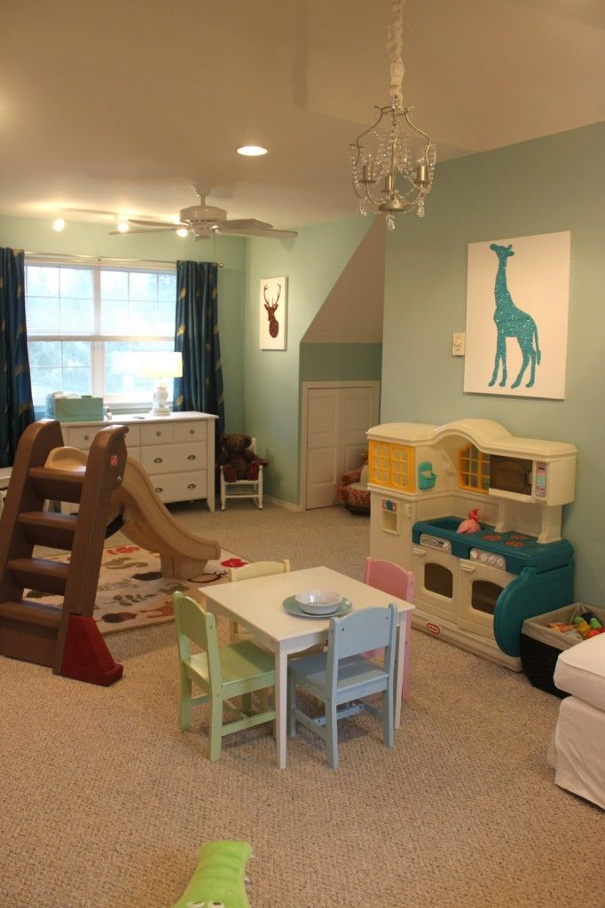 Gender Neutral Playroom + NurseryMarina Aisle, Playrooms Painting Colors, Neutral Playrooms, Playrooms Colors, Painting Colors For Playrooms, Basement Paint Behr Colors, Projects Nurseries, Paint Colors, Gender Neutral Nurseries