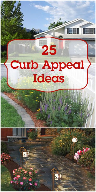25 Curb Appeal Ideas | Remodelaholic.com #curbappeal #DIY #landscaping