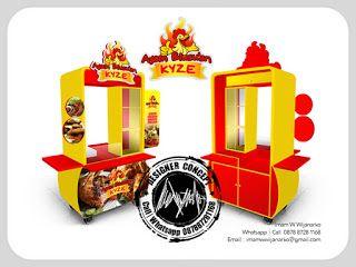 Desain Logo   Logo Kuliner    Desain Gerobak   Jasa Desain dan Produksi Gerobak   Branding: Desain Gerobak Ayam Blusuan Kyze