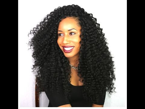 HOW TO GET THE MOST GLAMOROUS LOOKING CURLY KNOTLESS CROCHET BRAIDS (using nubian curls) - YouTube