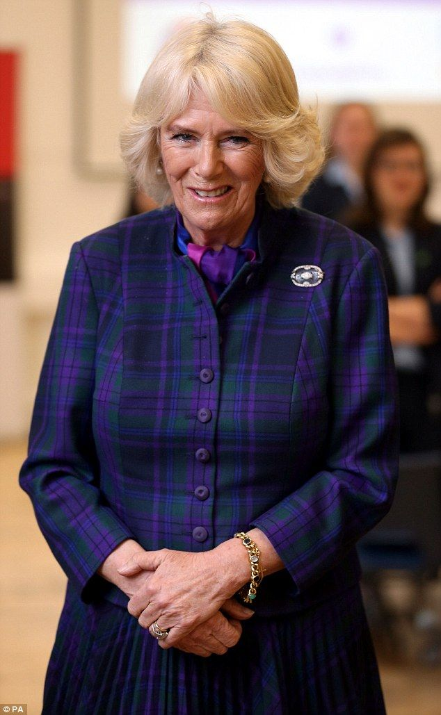 Camilla was visiting the Newmarket Academy school in the Suffolk racing town in her capacity as an honorary member of The Jockey Club