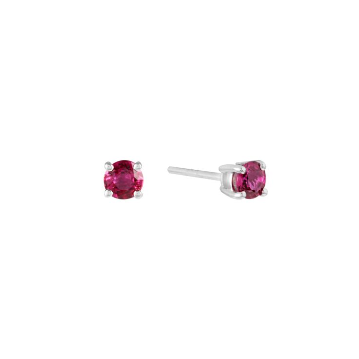 Round Faceted Ruby Studs, from Holts Gems in Hatton Garden, fast delivery or collect in-store