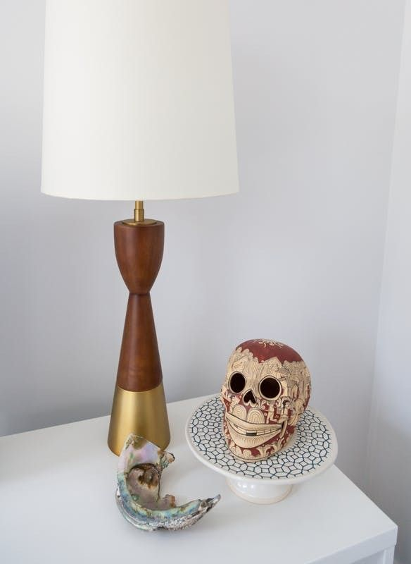 Traditional Table Lamps For Living Room Part - 23: With Wood And Metal Accents, We Love The Look Of This Simple Lamp In The Living  Room.