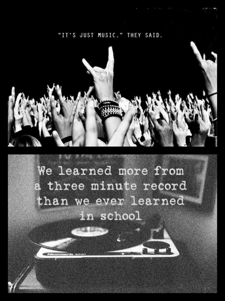 True...heh at long last long live the reckless and the brave and scream out and sing the real lyrics ur favorite music artists wrote so sing and dance and don't care what or how ppl think of u for just a moment LIVE
