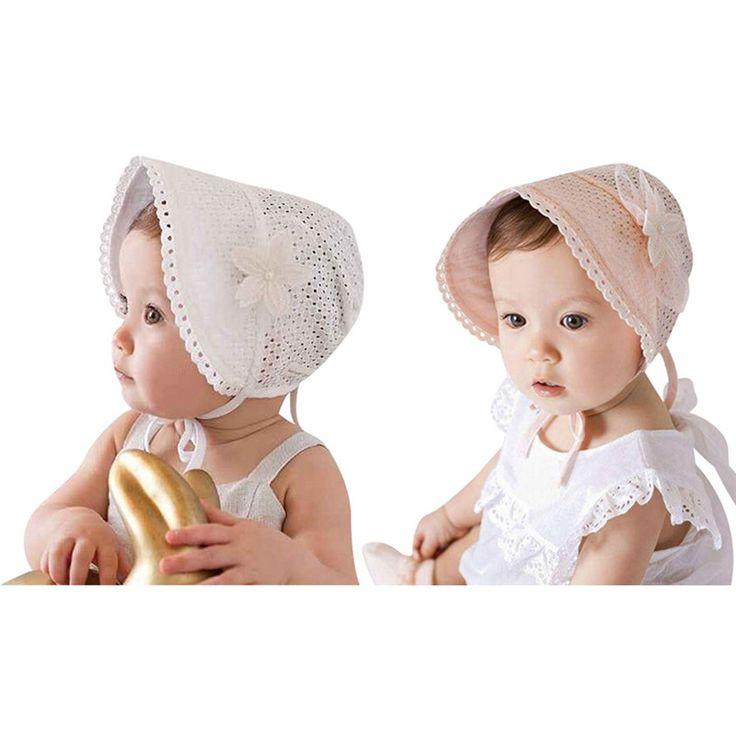 Baby Infant Newborn Girls Lace Floral Hat Cap Beanie Bonnet Hats Photo Prop BB