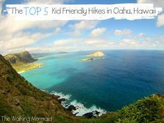 The top 5 kid friendly hikes in Oahu. These hikes are my favorite and oh so breathtaking. Everything from waterfalls to gorgeous views from the top of the mountains and all fairly easy to do with children.