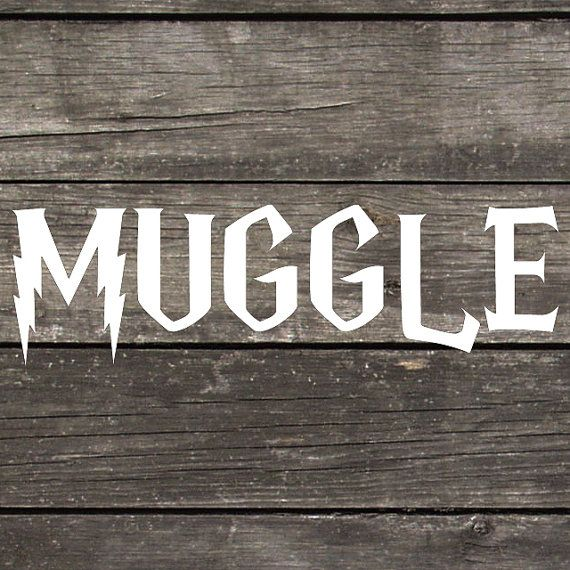 Harry potter inspired muggle decal made of premium indoor outdoor white vinyl perfect