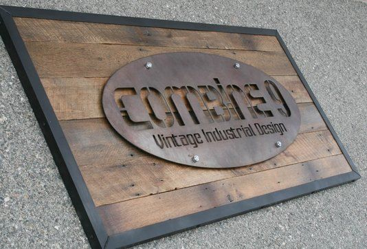 Custom Made Modern Industrial/Vintage Style Custom Signs. Urban. Steel/Reclaimed Wood. Signage. Many Options.