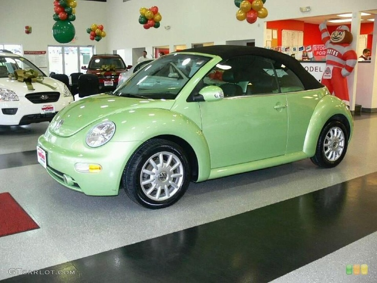 my green convertible bug. Black Bedroom Furniture Sets. Home Design Ideas