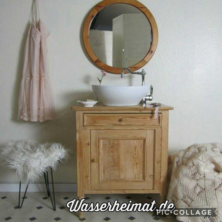 Antike Badmöbel Werden Umgearbeitet Zum Waschtisch Der Besonderen Art. Hier  Terffen Sich Vintage Und Romantik