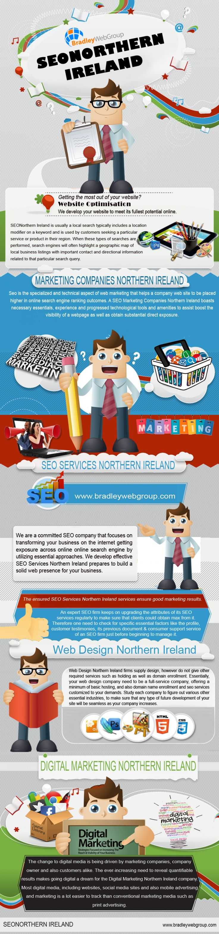 A well-crafted web site can bring you new or additional online traffic resulting in new clients and customers. Click this site http://bradleywebgroup.com/ for more information on Web design northern Ireland. First impressions matter, so work with experts from Web design Northern Ireland to capture the image or branding that you want to convey to your Internet visitors. Follow Us http://seonorthernireland.blogspot.com