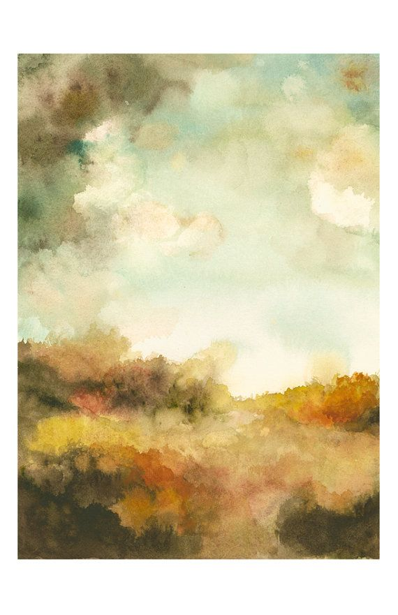 Autumn Day No. 3  landscape  Archival reproduction