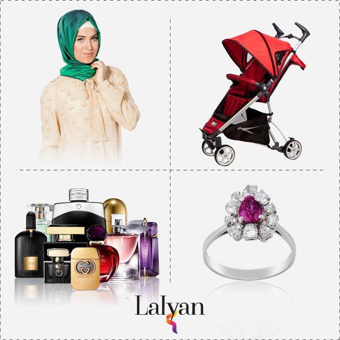 Elbiseden aksesuara, kozmetikten çocuk ürünlerine aradığınız herşey www.lalyan.com'da.
