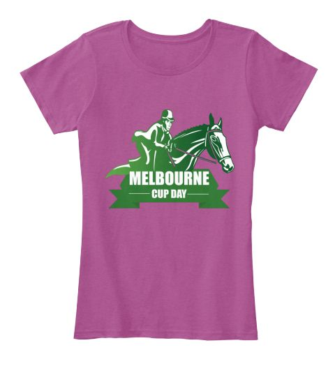Melbourne cup day dresses t shirt heathered pink raspberry t shirt front