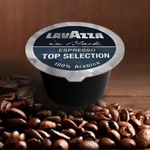 Lavazza In Black Top Selection Pregiata miscela 100% arabica. Caffè espresso cremoso e compatto dal retro gusto persistente.