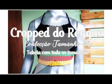 2b09ba1b8 Cropped do Reggae- Tamanho M- Katiane Crochê Fio a Fio - YouTube ...