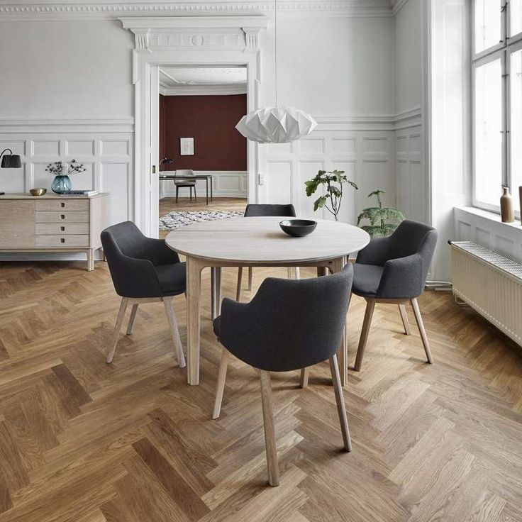Table ronde en bois style scandinave extensible – SM112