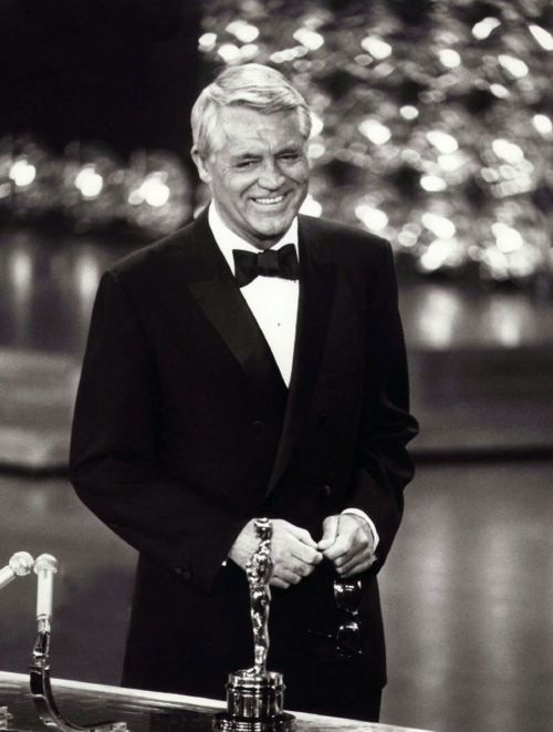 Cary Grant receiving an Academy Honorary Award in 1970