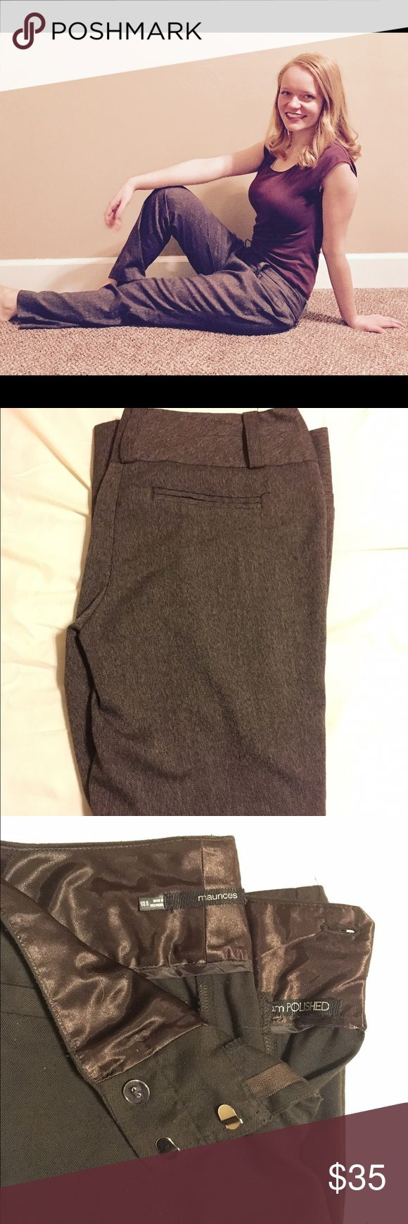 Brown Work Slacks!! Beautiful Brown Slacks that will turn heads!! Perfect to help you nail your next interview!! Worn only a few times! Maurices Pants Trousers