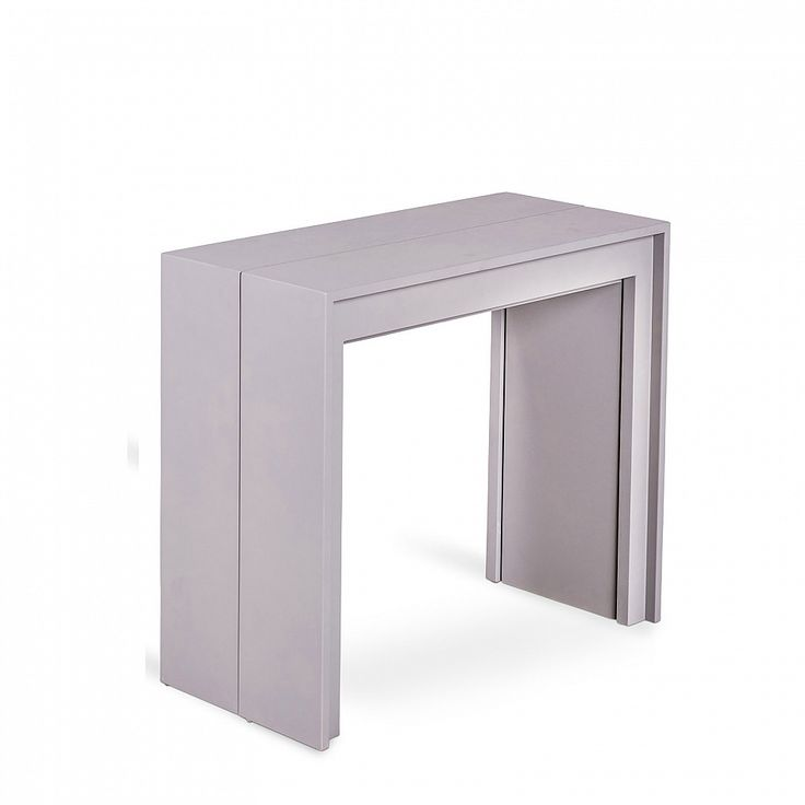 Console extending table in white/grey/black Pino by Stones