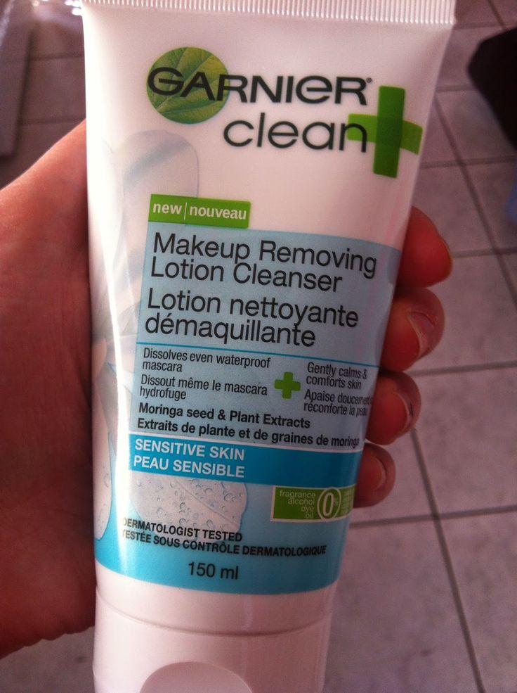 """LE NOMBRIL DE MON MONDE """"Garnier clean + est un démaquillant ET une lotion nettoyante à la fois. Sauver du temps-Check!"""""""