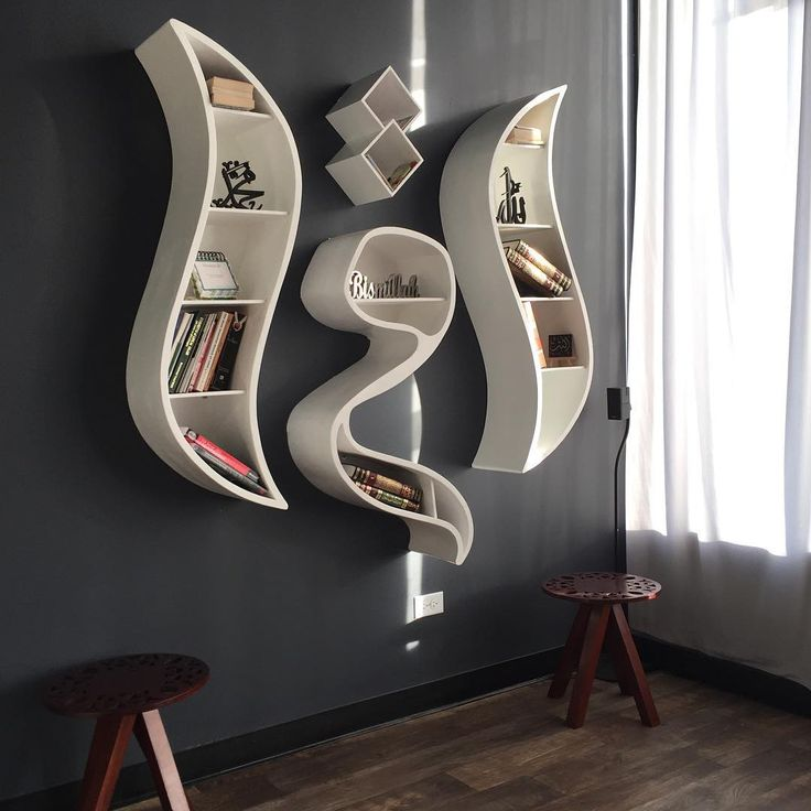 """""""Our all white IQRA bookshelf looking pretty ❤️. Come check it out in our #chicago studio at 3560 w dempster st . Skokie IL. Our other items can be found…"""""""