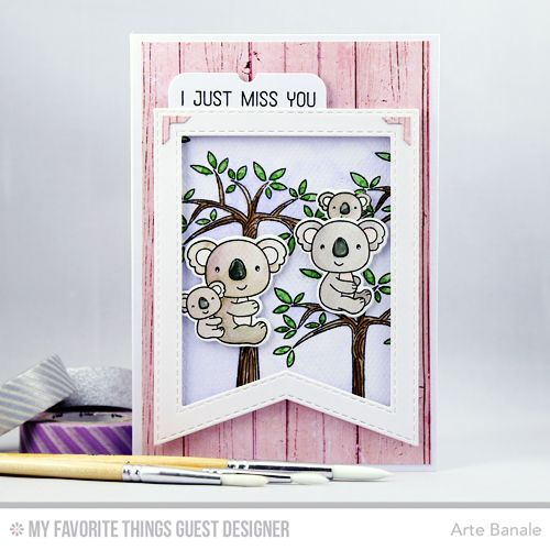 Cuddly Koalas Stamp Set and Die-namics, Blueprints 32 Die-namics, Stitched Fishtail Frames Die-namics - Arte Banale  #mftstamps