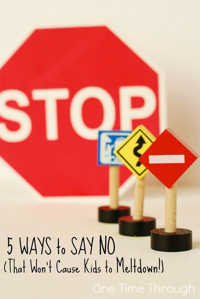 """Are your kids not listening to your """"NO's""""? Are your kids melting down when you say NO? Try these 5 alternatives instead that gain cooperation, are effective, and might even stop your child from having a meltdown! {One Time Through} #parenting"""