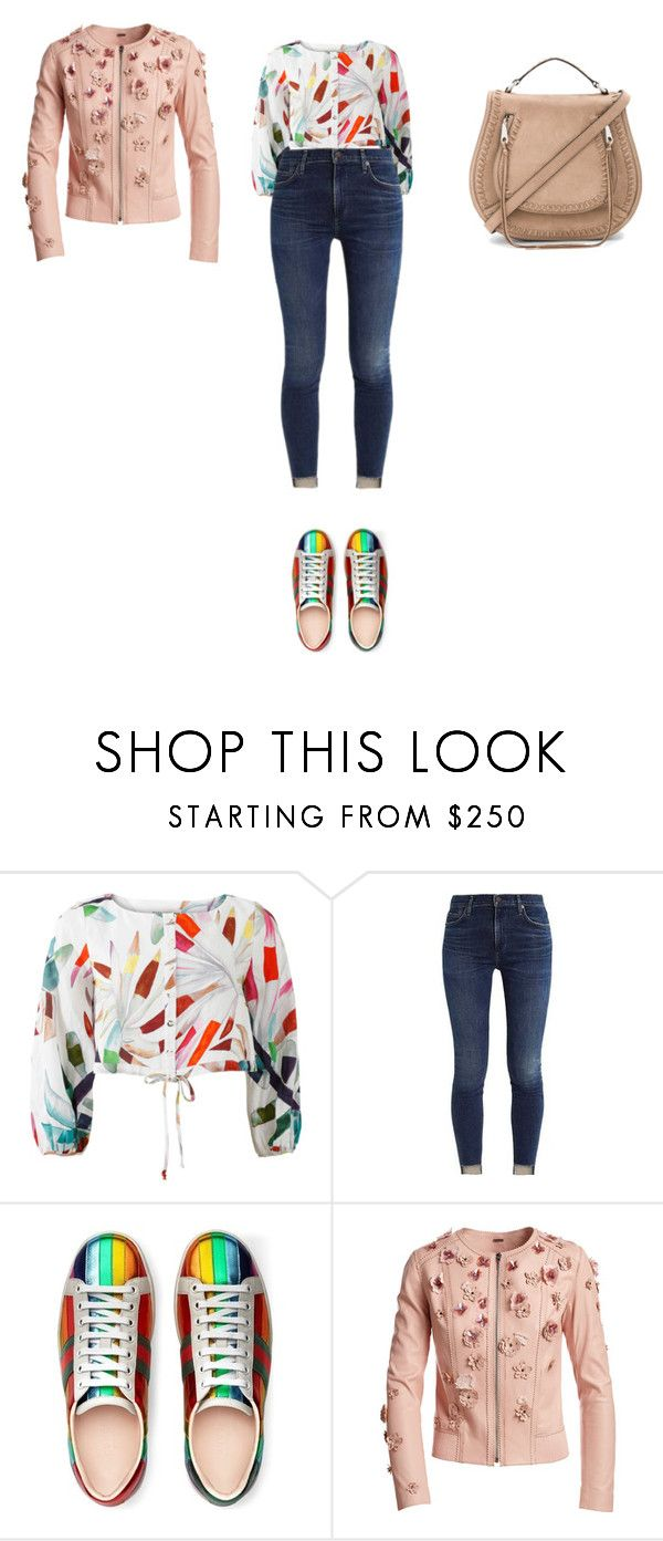 """""""Sans titre #10163"""" by ghilini-l-roquecoquille ❤ liked on Polyvore featuring Mara Hoffman, Gucci, Elie Tahari and Rebecca Minkoff"""