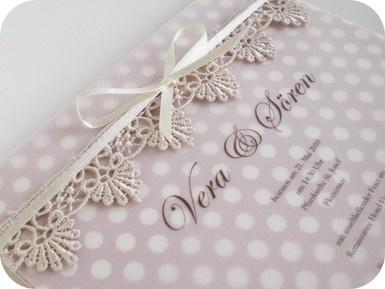 Einladungskarte für Vintage Hochzeit