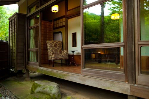 Engawa Japanese sliding doors to garden