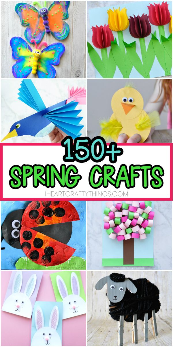 Paper art crafts for kids. Easy Spring Crafts For Kids 150 Art And Craft Project Ideas For All Ages Arts And Crafts For Kids Preschool Crafts Spring Crafts