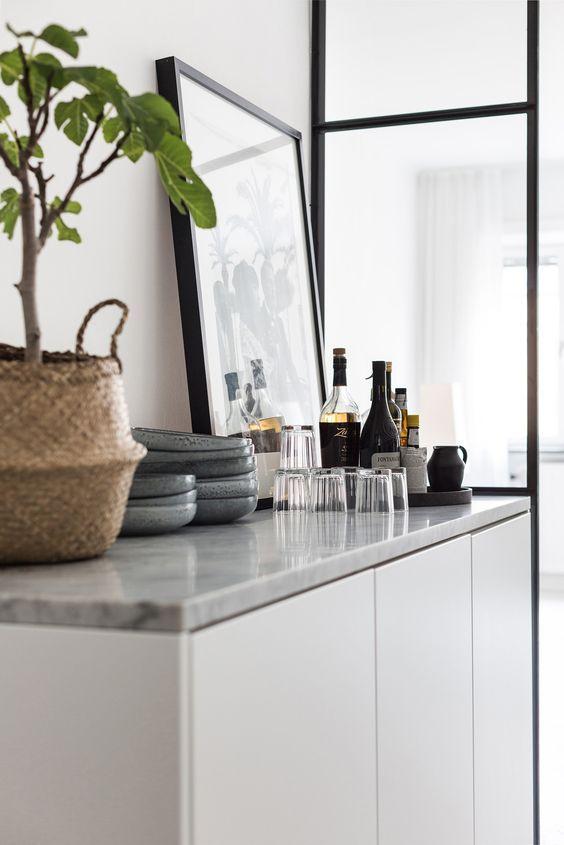 Marmeren Blad Op Ikea Besta Kast Interior Details In 2019