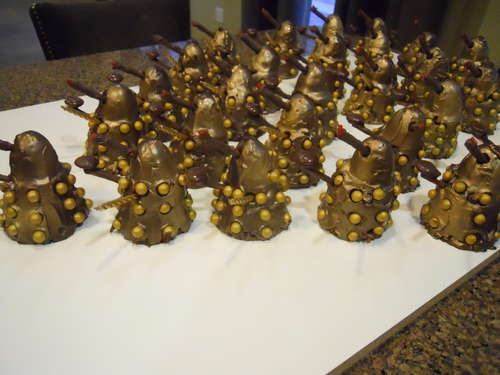 An Army of Doctor Who Daleks Cakes