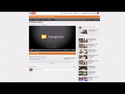 Stream Live to Your YouTube Channel with Google+ Hangouts