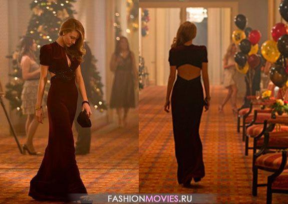 Век Адалин: на Адалин бордовое бархотное платье разработаное  Ангусом  Страти (Angus Strathie) и модным домом Gucci
