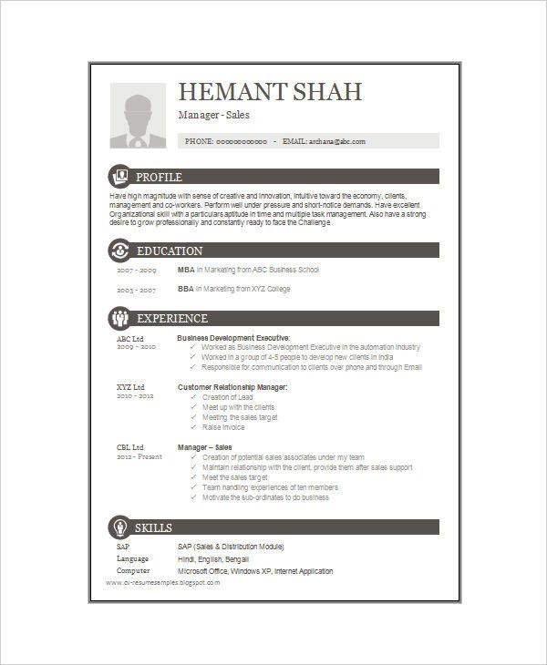 1 Page Resume Format For Freshers 2-Resume Format One page