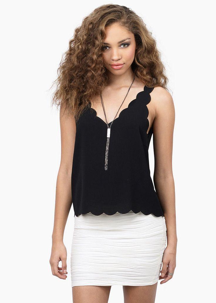 Black Sleeveless Chiffon Vest 7.99