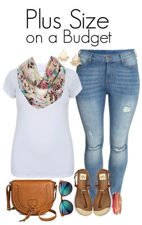 Plus Size on a Budget - Summer Scarf & Skinny Jeans - Plus Size Outfit Idea - Plus Size Fashion - http://alexawebb.com