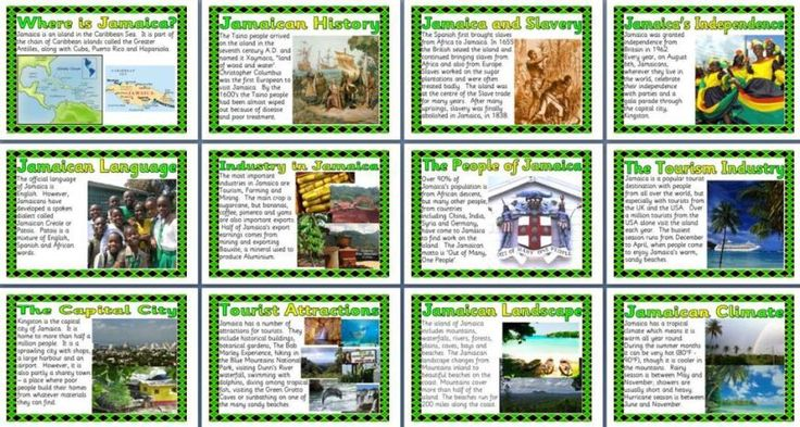 Geography Posters KS2 Jamaica.  Geography - Jamaica  13 posters.  Includes: Location, Industry, Climate, History, Slavery, Independence, Language, People, Tourism, Landscape, Capital.
