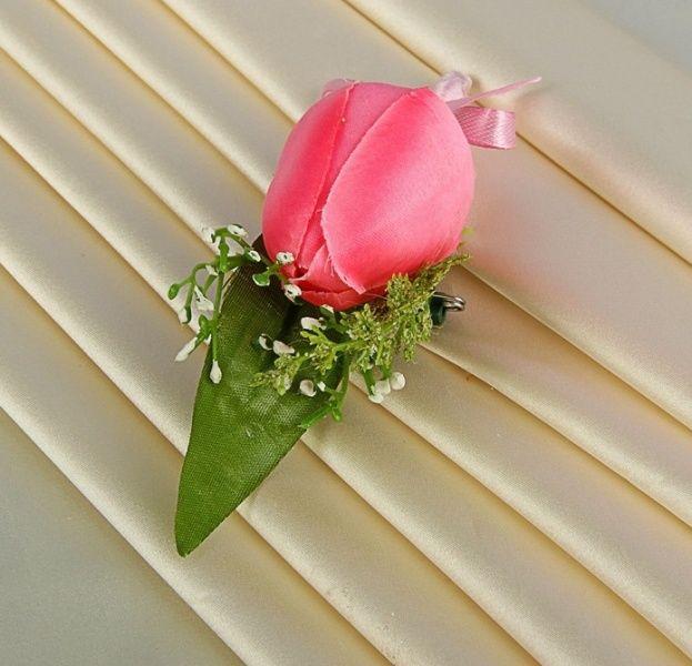 Бутоньерка № 4 розовая. Продажа свадебной атрибутики в г. Верхняя Салда.