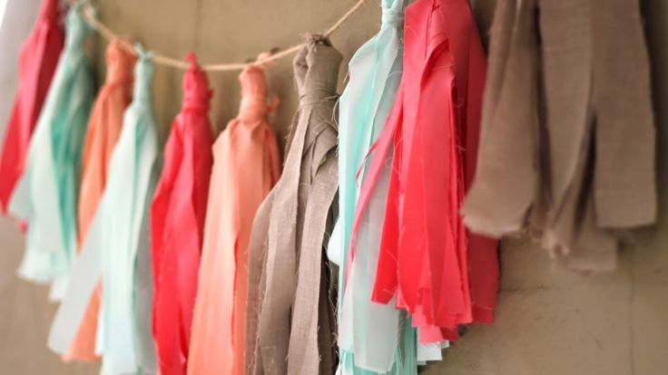 How to Make A Fabric Tassel Garland (No Sew!) | Pretty Prudent