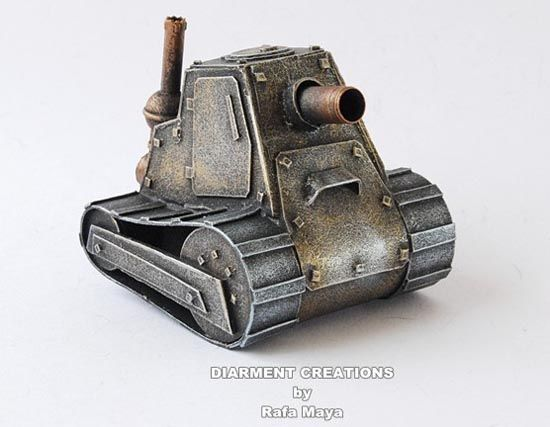 Steampunk Tiny Tank Model - Bison arty, game : World of Tanks