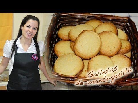 ♥ Receta: GALLETAS DE MANTEQUILLA ¡SOLO 4 INGREDIENTES! Rápidas y muy fáciles. ♥ - YouTube